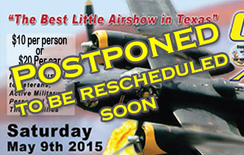 POSTPONED:  Texas T-Cart Tribute to Jan Collmer May 9, 2015 in Corsicana, TX