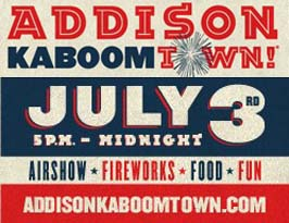Addison Kaboom Town: July 3, 2016